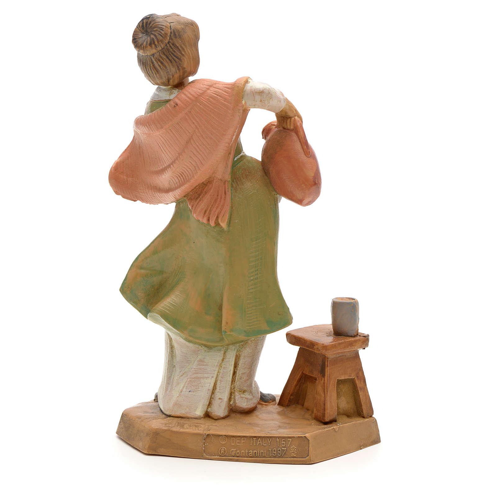 Bergère et cruche crèche Fontanini 12 cm 3