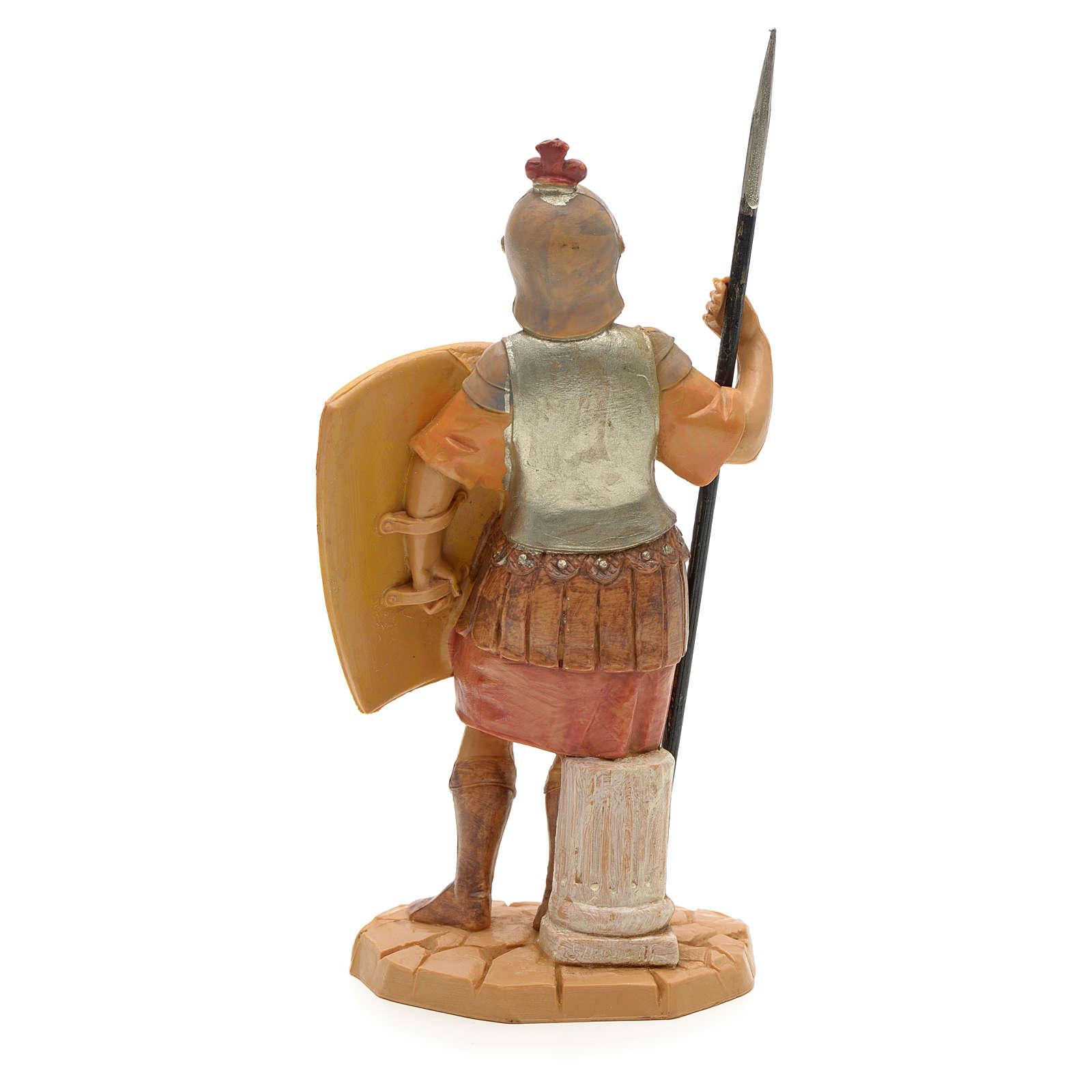 Soldat handcoloriert, mit Schild, 12 cm Fontanini 4