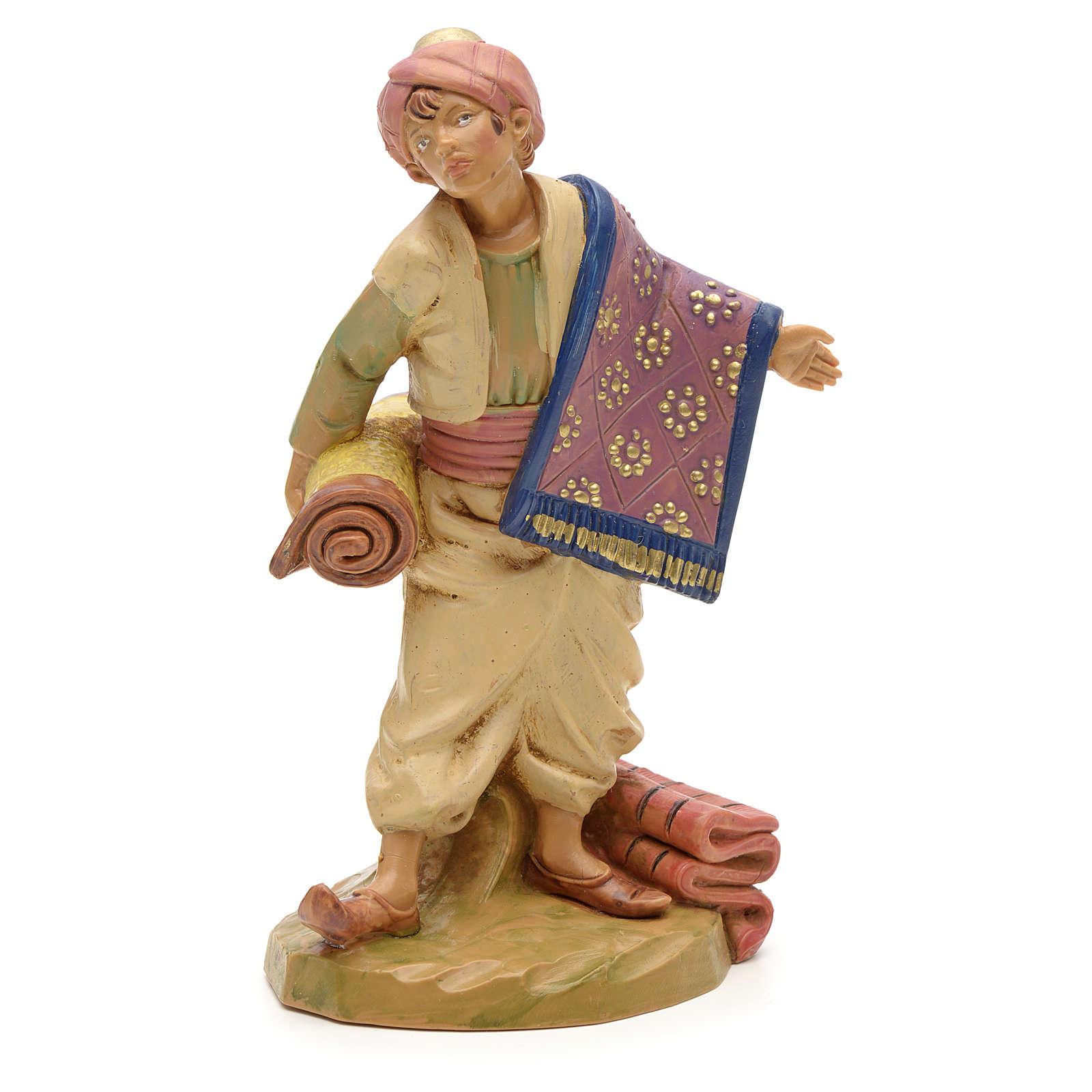 Pastor con alfombras 12 cm Fontanini 4
