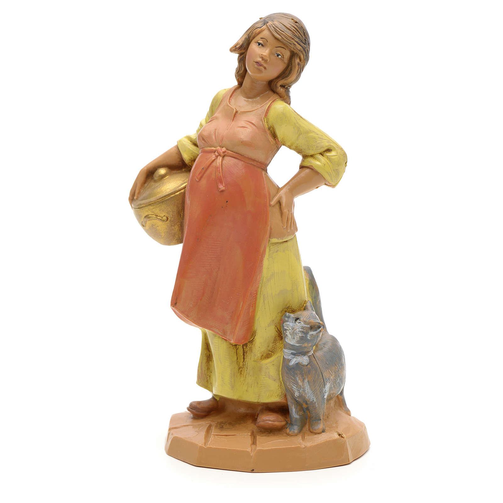Femme enceinte crèche Fontanini 12 cm 4