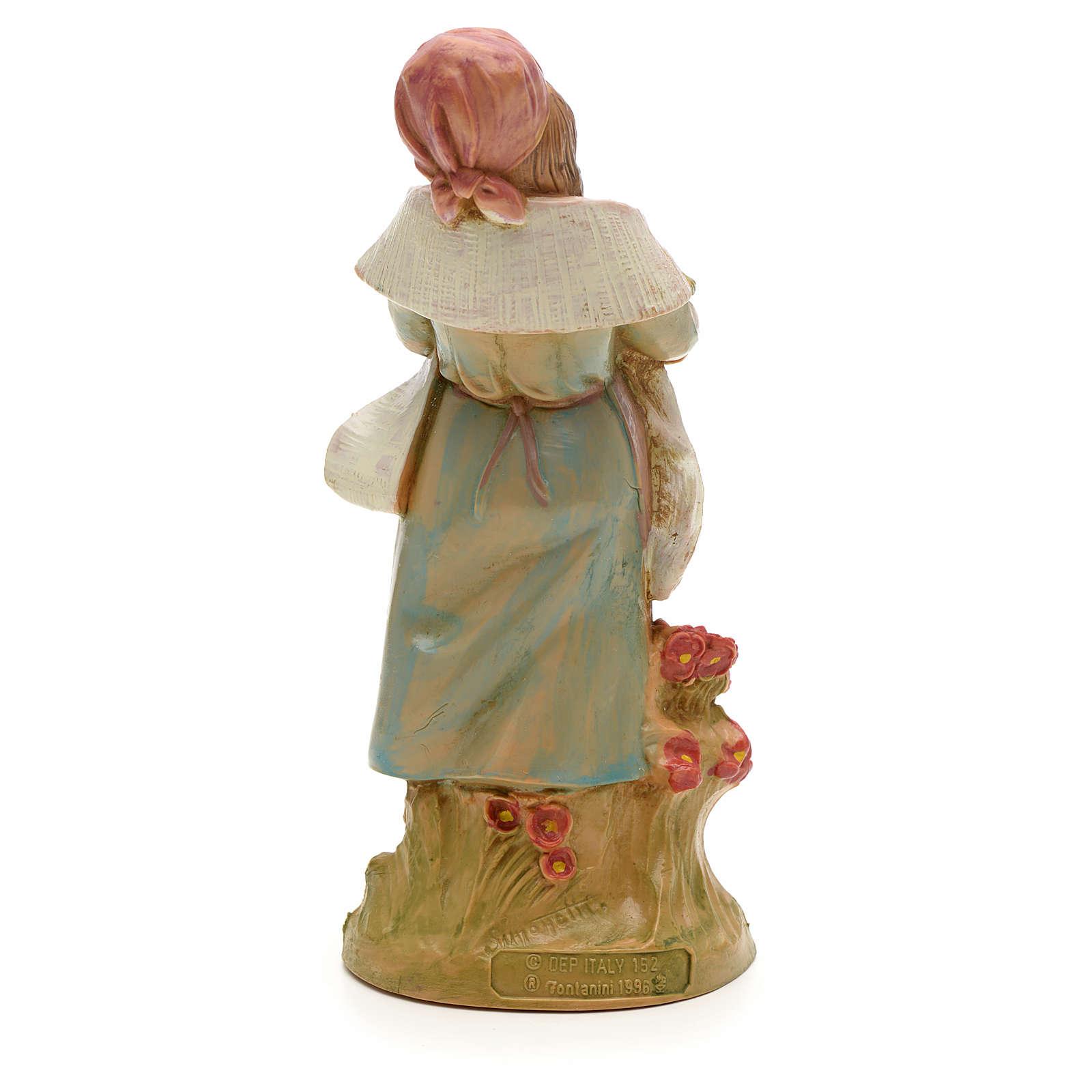 handcolorierte Statuette Hirtenmädchen 12 cm Fontanini 3