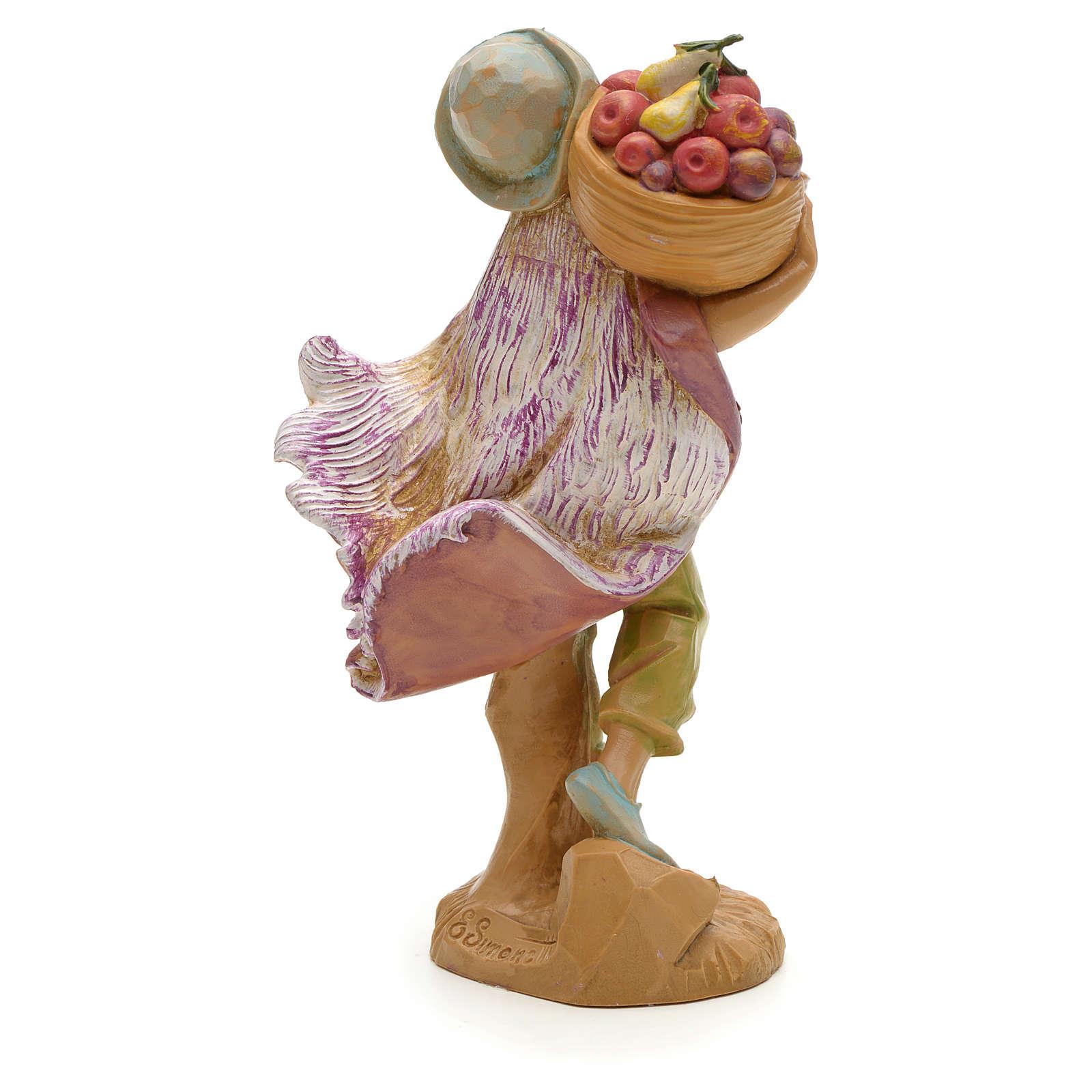 Ragazzo con cesto di frutta 12 cm Fontanini 3