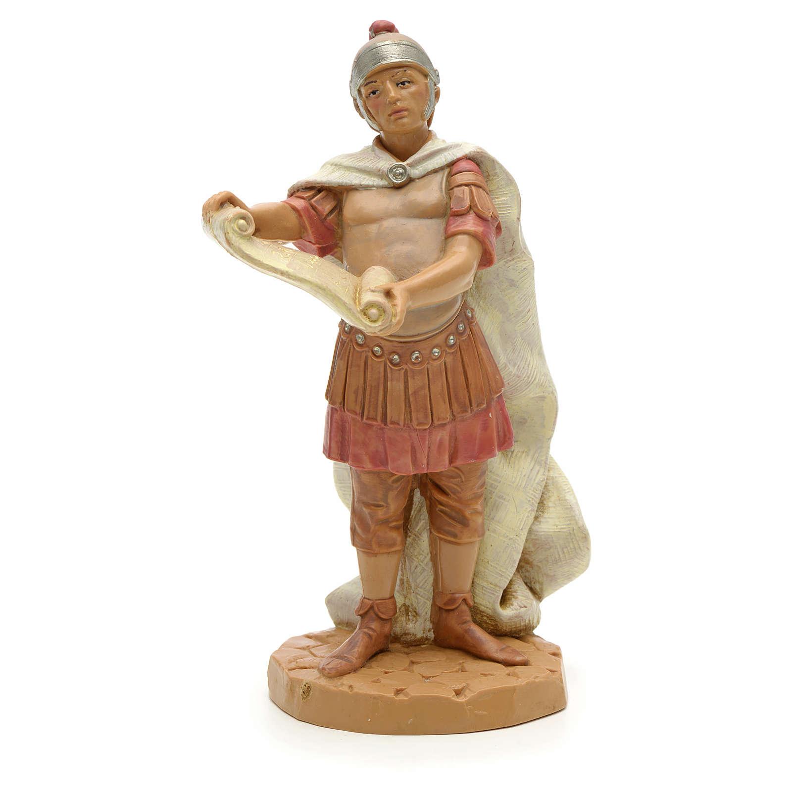 Soldat roman avec un parchemin crèche Fontanini 12 cm 4