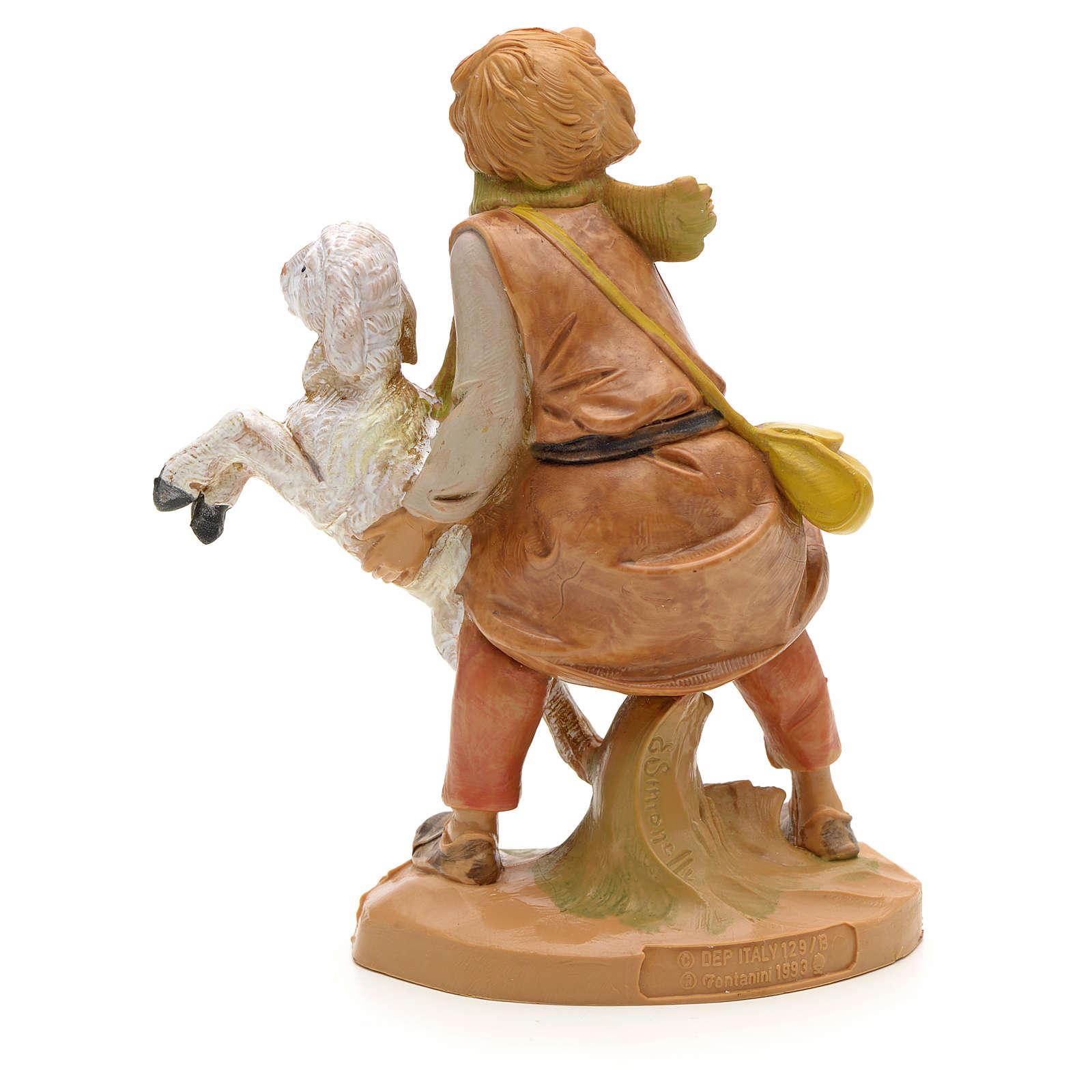 Ragazzo con pecorella 12 cm Fontanini 4