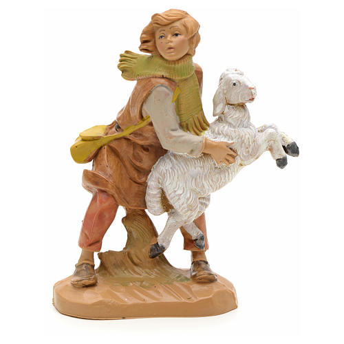 Ragazzo con pecorella 12 cm Fontanini 1