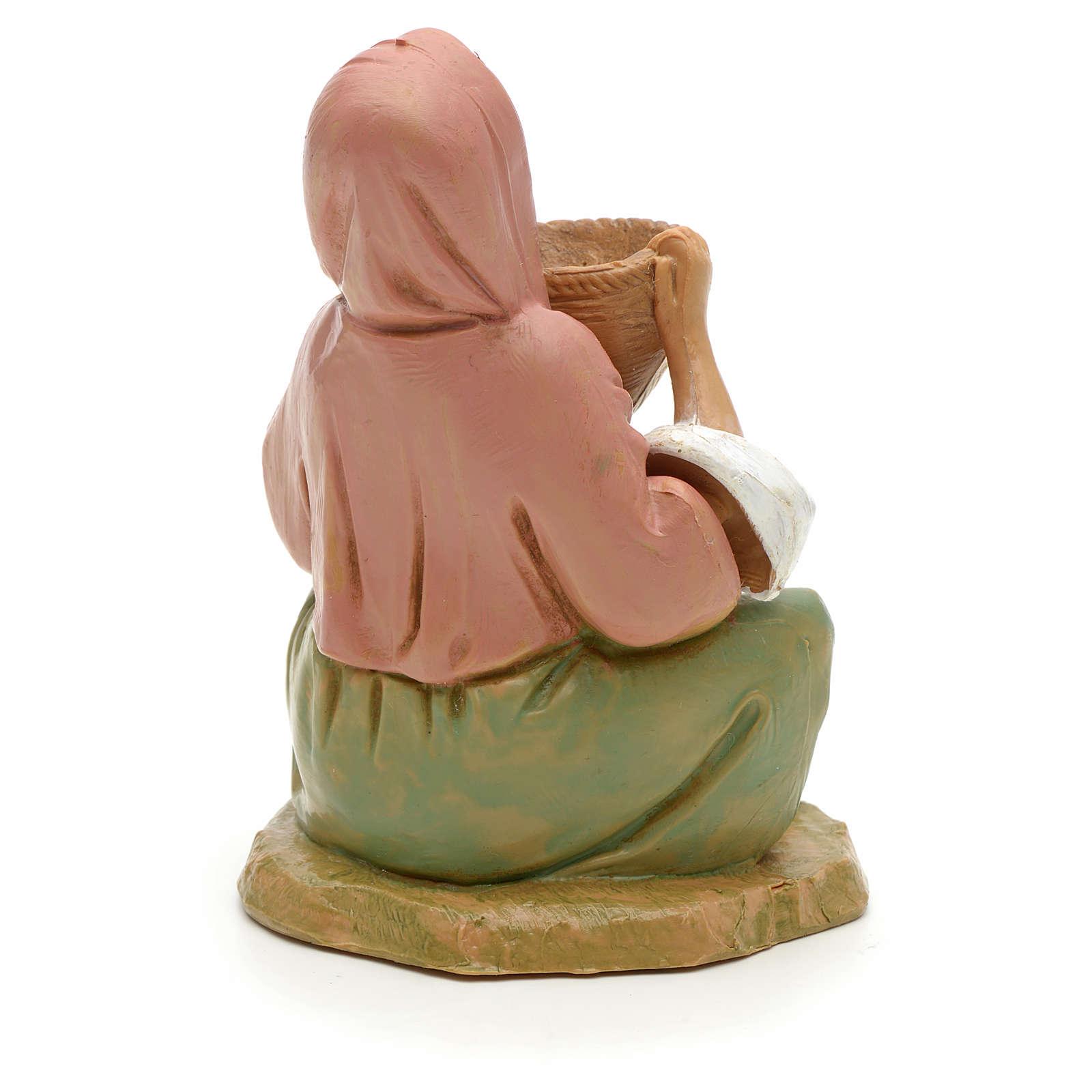 Chica con cesta 12 cm Fontanini 3