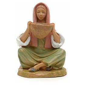 Chica con cesta 12 cm Fontanini s1