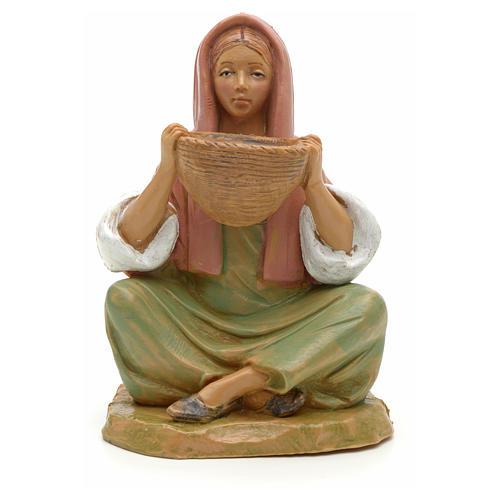 Chica con cesta 12 cm Fontanini 1