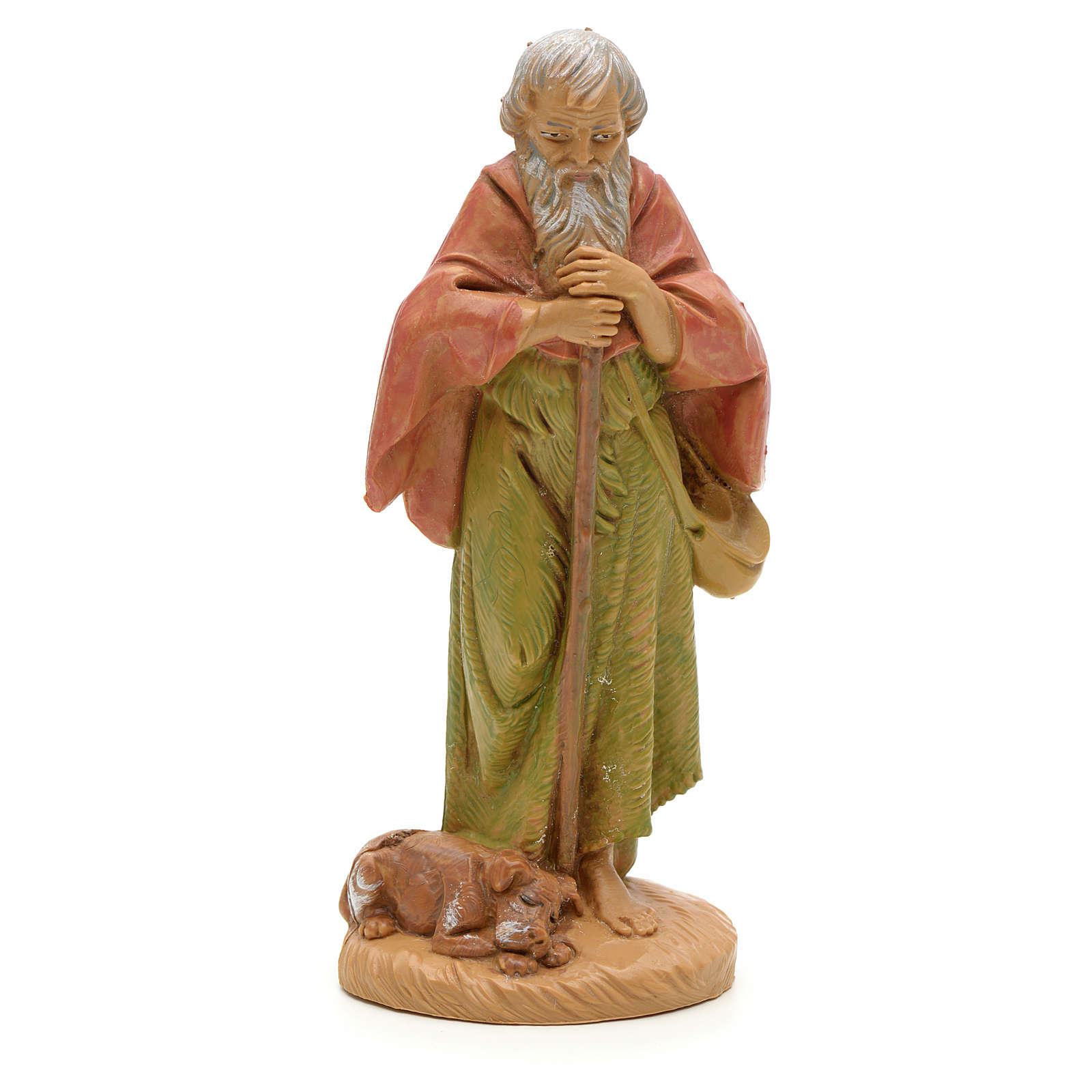 Pastore anziano con cane 12 cm Fontanini 4