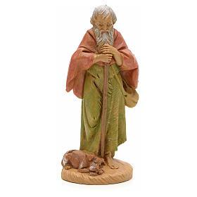 Pastore anziano con cane 12 cm Fontanini s1