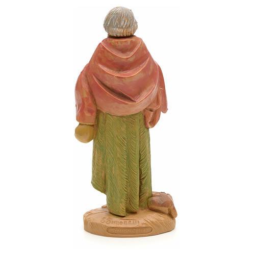 Pastore anziano con cane 12 cm Fontanini 2