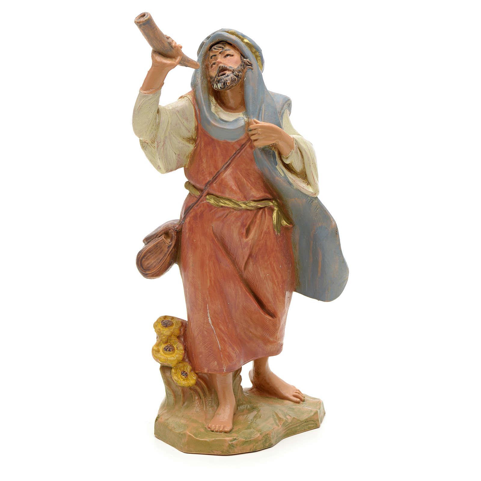 Pastor con cuerno 12 cm Fontanini 3