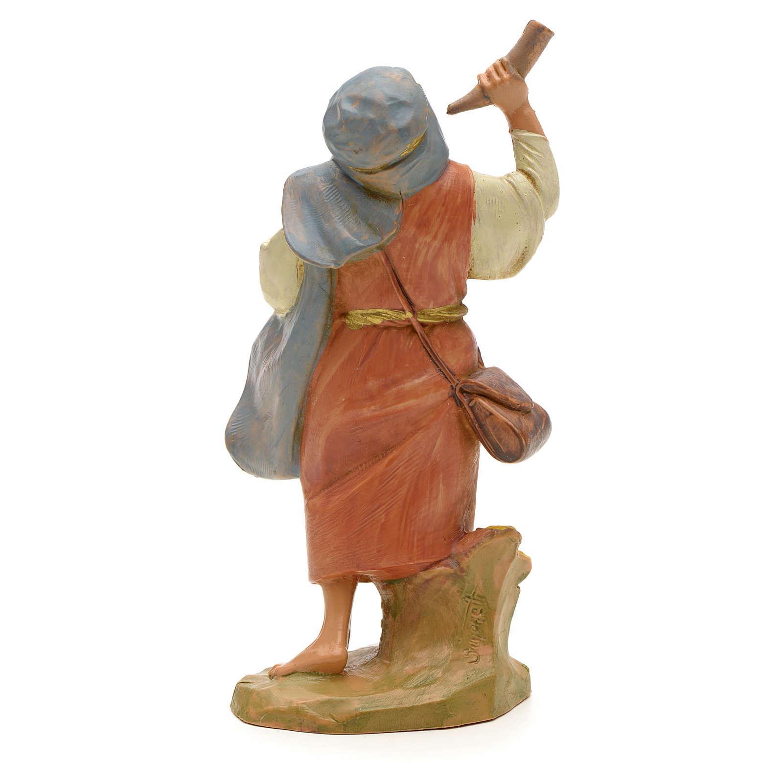 Joueur de cor crèche Fontanini 12 cm 3