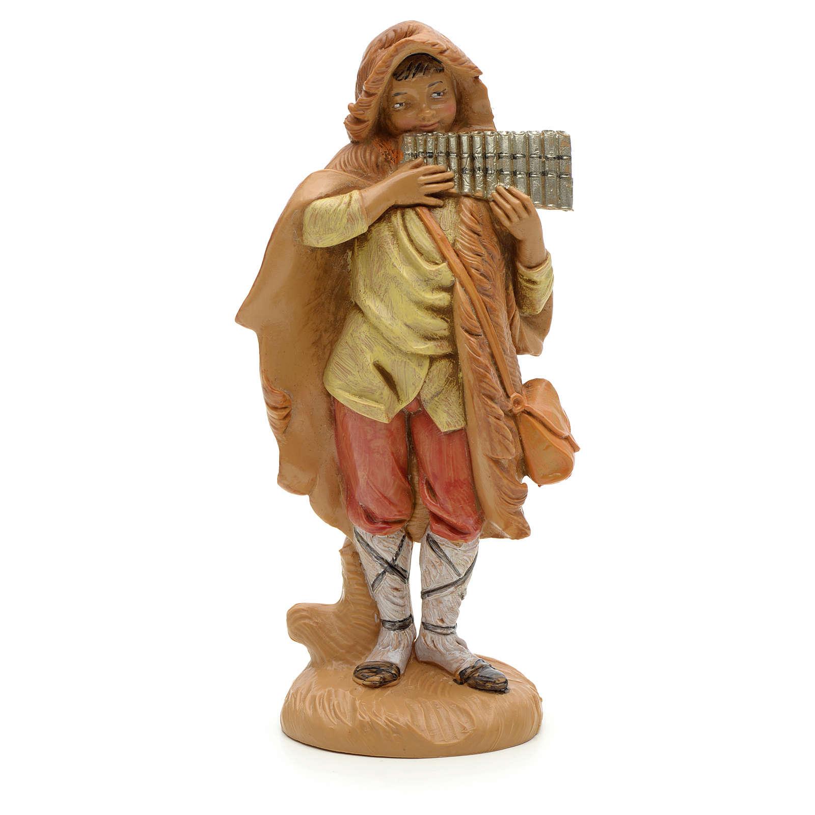 Berger et son harmonica crèche Fontanini 12 cm 4