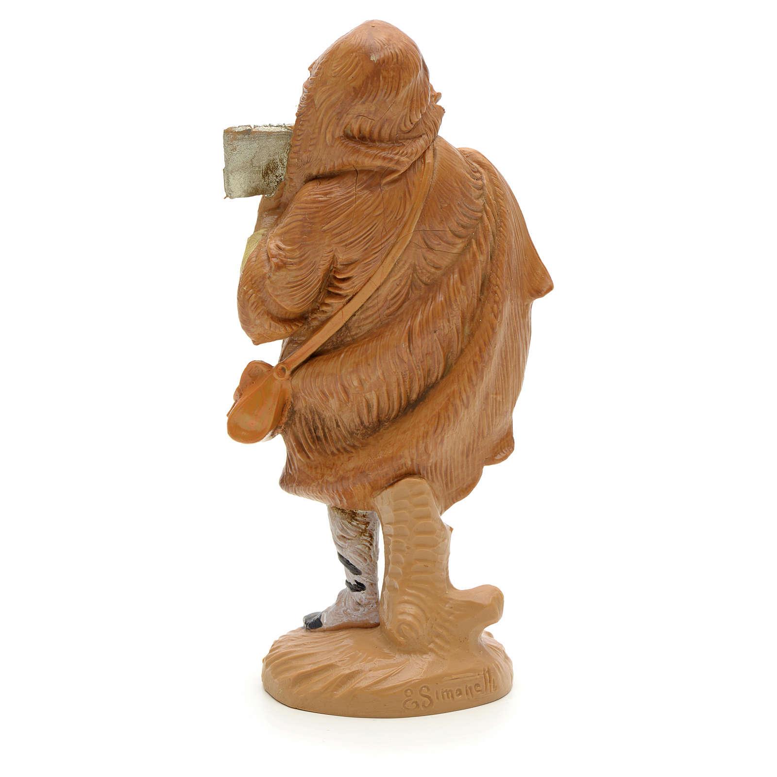 Pastor com flauta de pã presépio 12 cm Fontanini 3