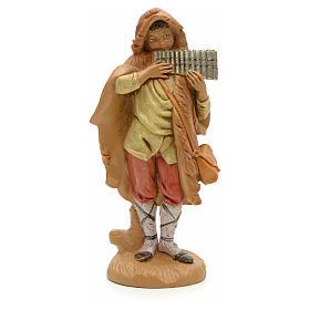 Pastor com flauta de pã presépio 12 cm Fontanini s1