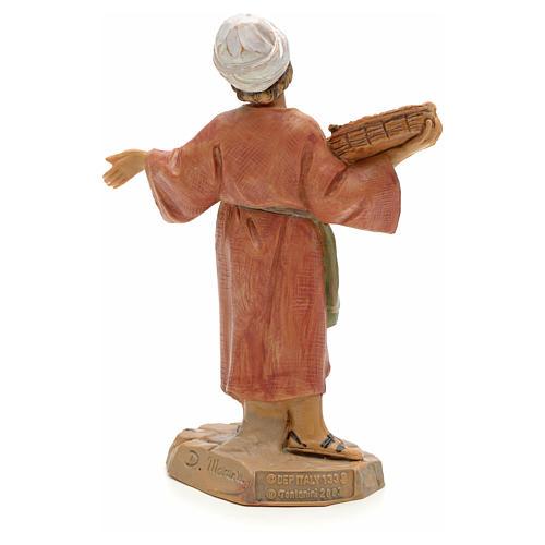 Dziecko z koszem winogron 12 cm Fontanini 2