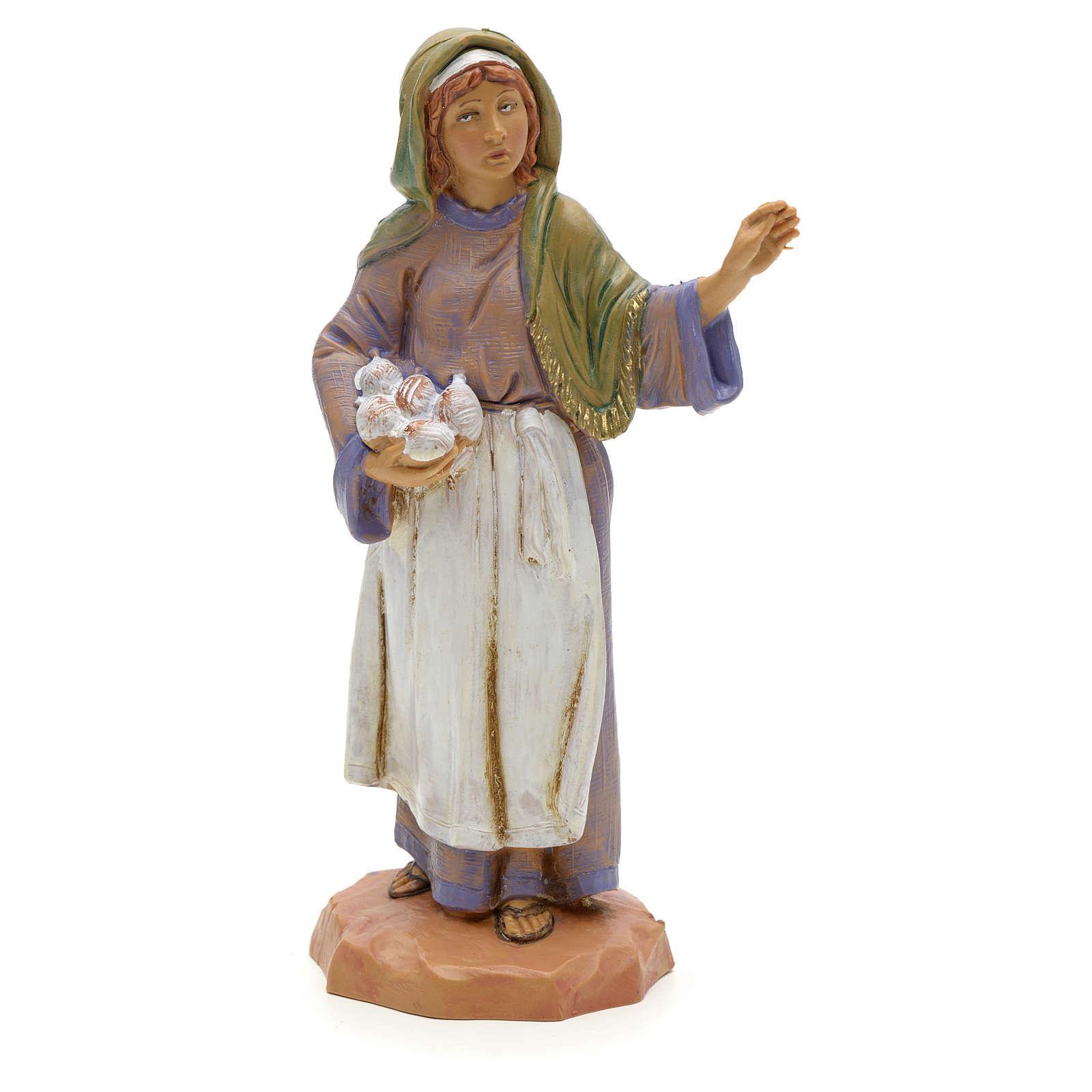 Weberin Fontanini, mit Knäueln, 12 cm 3