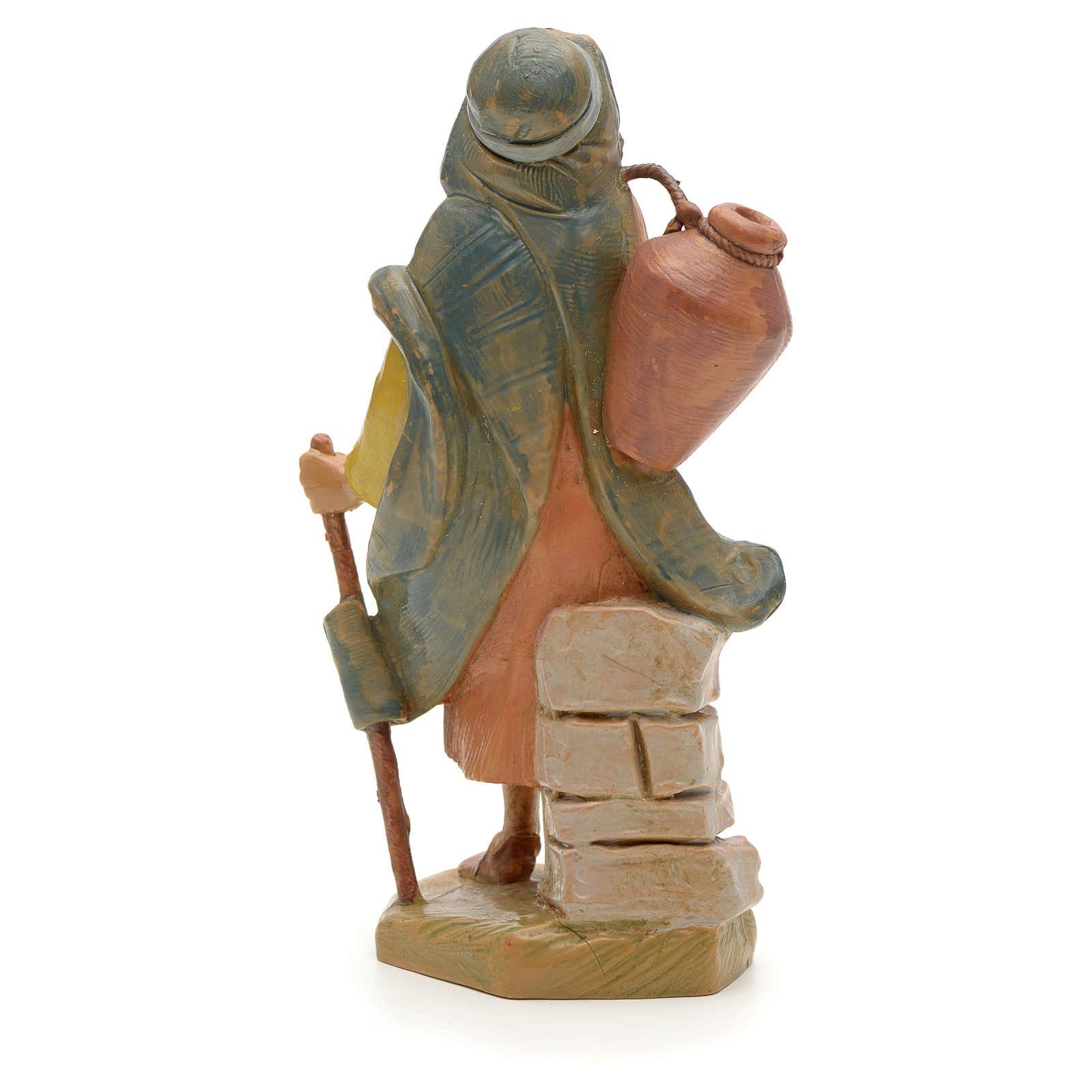 Pastor con bastón y jarra 12 cm Fontanini 4