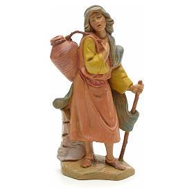 Statue per presepi: Pastore con bastone e anfora 12 cm Fontanini