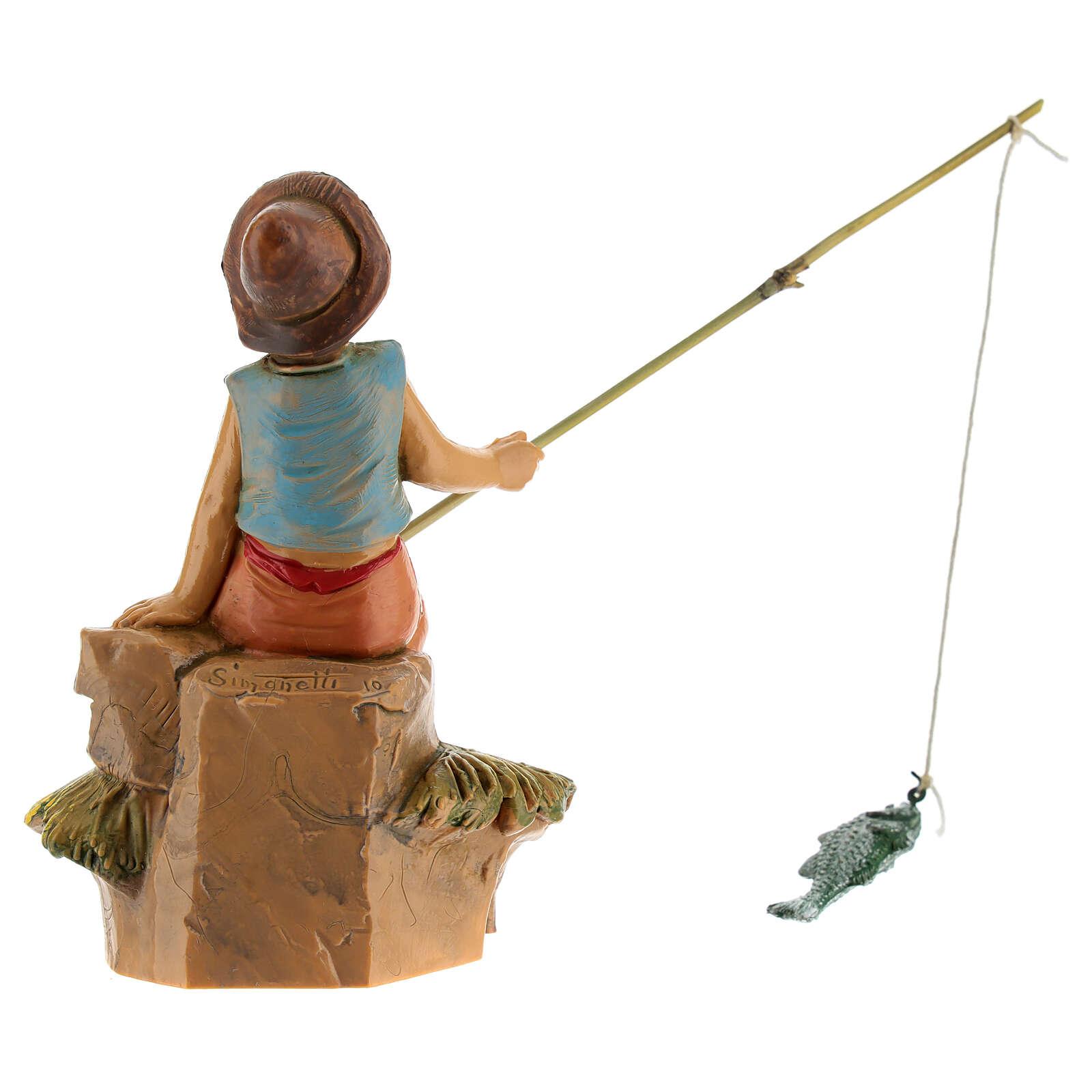 Rapaz pescador para Presépio Fontanini com figuras de altura média 12 cm 4