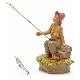 Rapaz pescador para Presépio Fontanini com figuras de altura média 12 cm s1