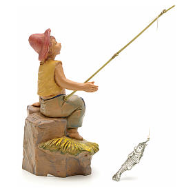Rapaz pescador para Presépio Fontanini com figuras de altura média 12 cm s2
