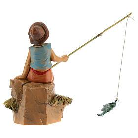 Rapaz pescador para Presépio Fontanini com figuras de altura média 12 cm s4