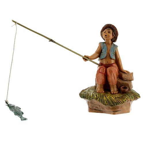 Rapaz pescador para Presépio Fontanini com figuras de altura média 12 cm 1