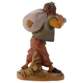 Garçon et son sac crèche Fontanini 12 cm s3