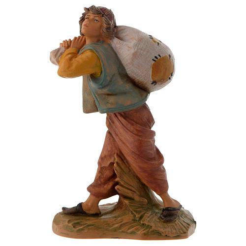 Garçon et son sac crèche Fontanini 12 cm 1