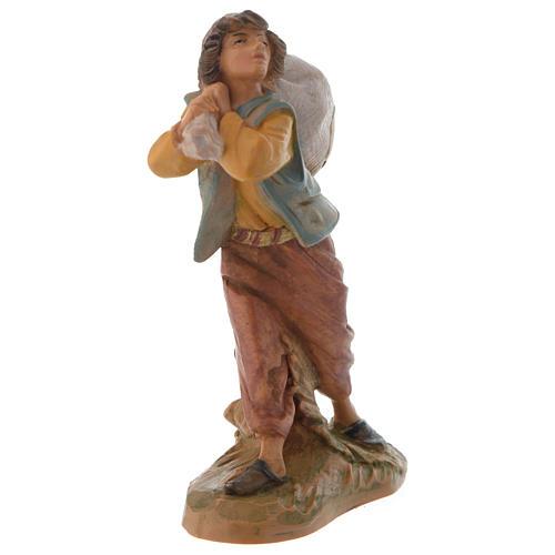 Garçon et son sac crèche Fontanini 12 cm 2