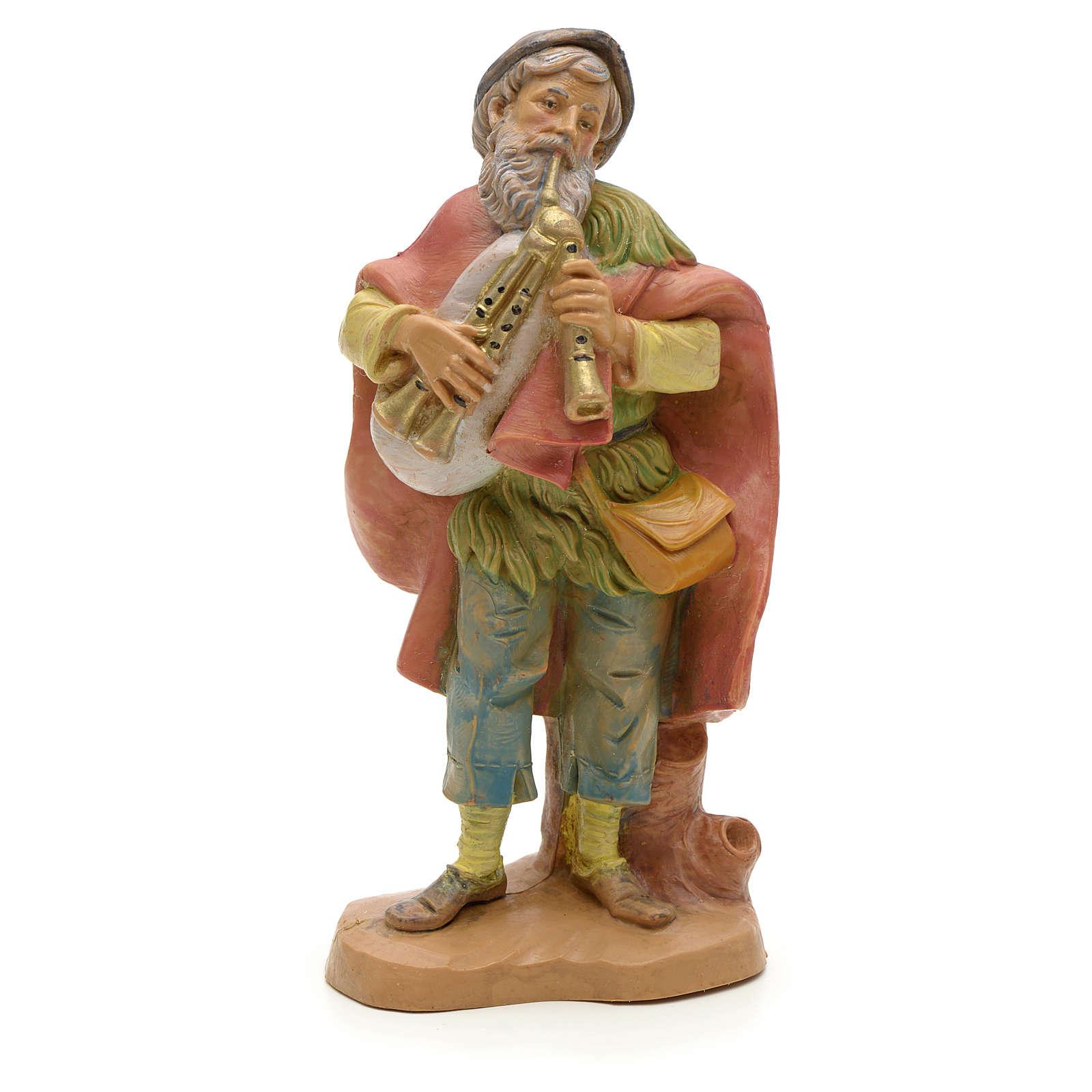Joueur de cornemuse vieux crèche Fontanini 12 cm 4