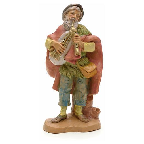 Joueur de cornemuse vieux crèche Fontanini 12 cm 1