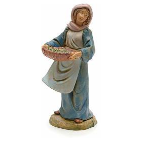 Figuras de Presépio: Camponesa com azeitonas 12 cm Fontanini