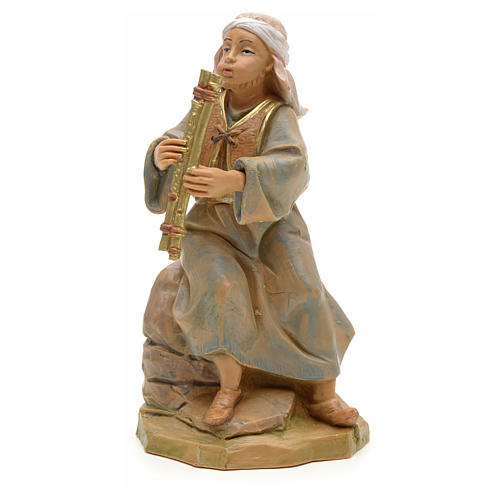 Chico con flauta 12 cm Fontanini 1