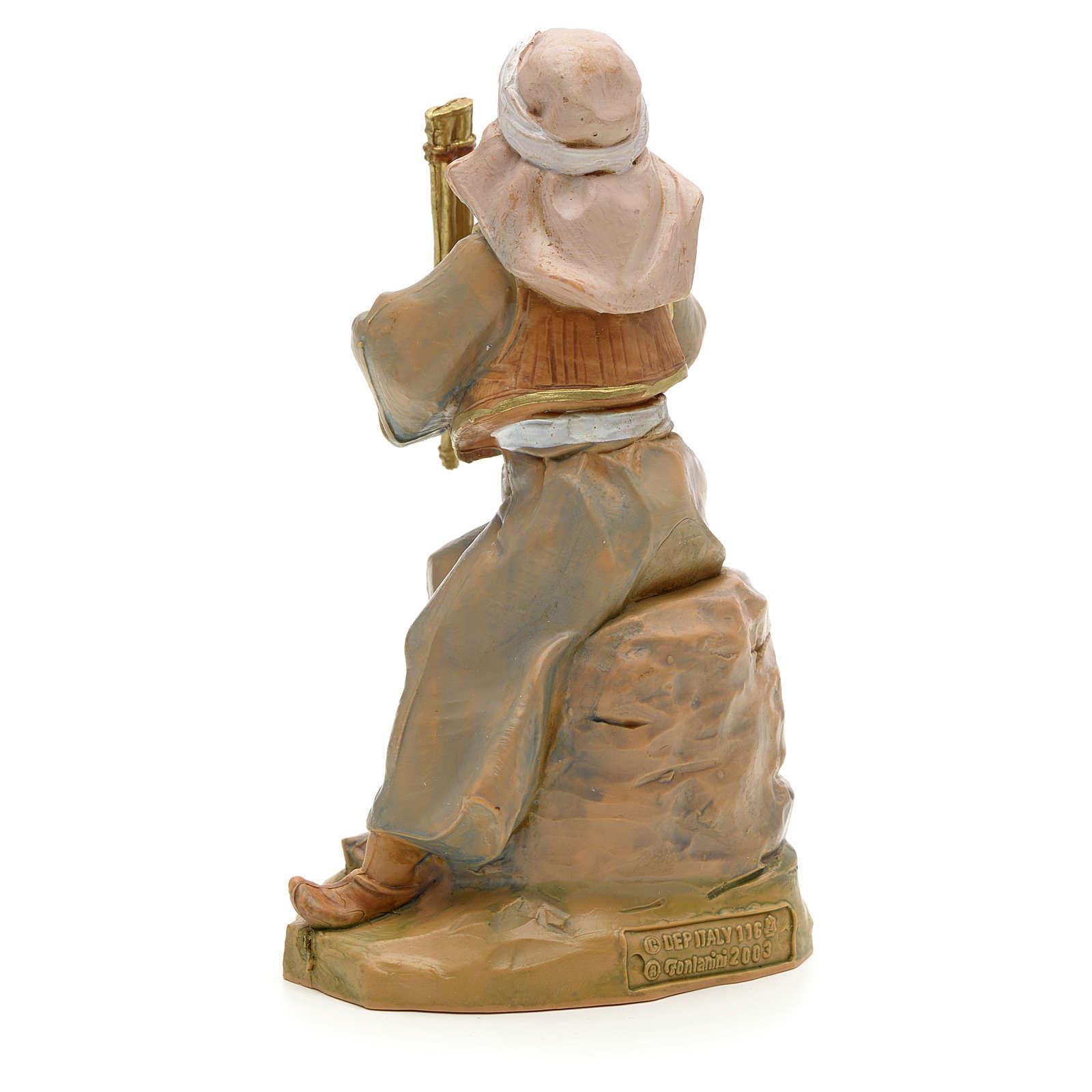 Garçon au fifre crèche Fontanini 12 cm 3
