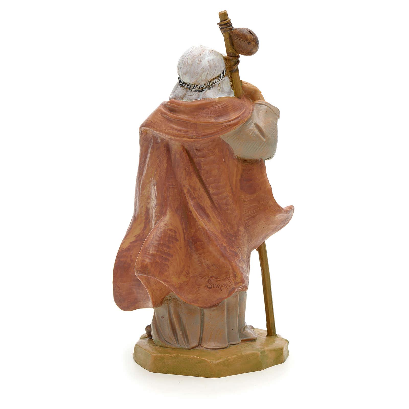 Pastore anziano con bastone 12 cm Fontanini 4