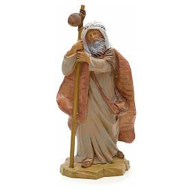 Pastore anziano con bastone 12 cm Fontanini s1