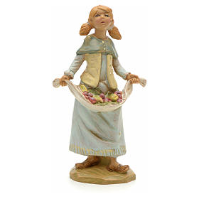 Statue per presepi: Ragazza con frutta 12 cm Fontanini