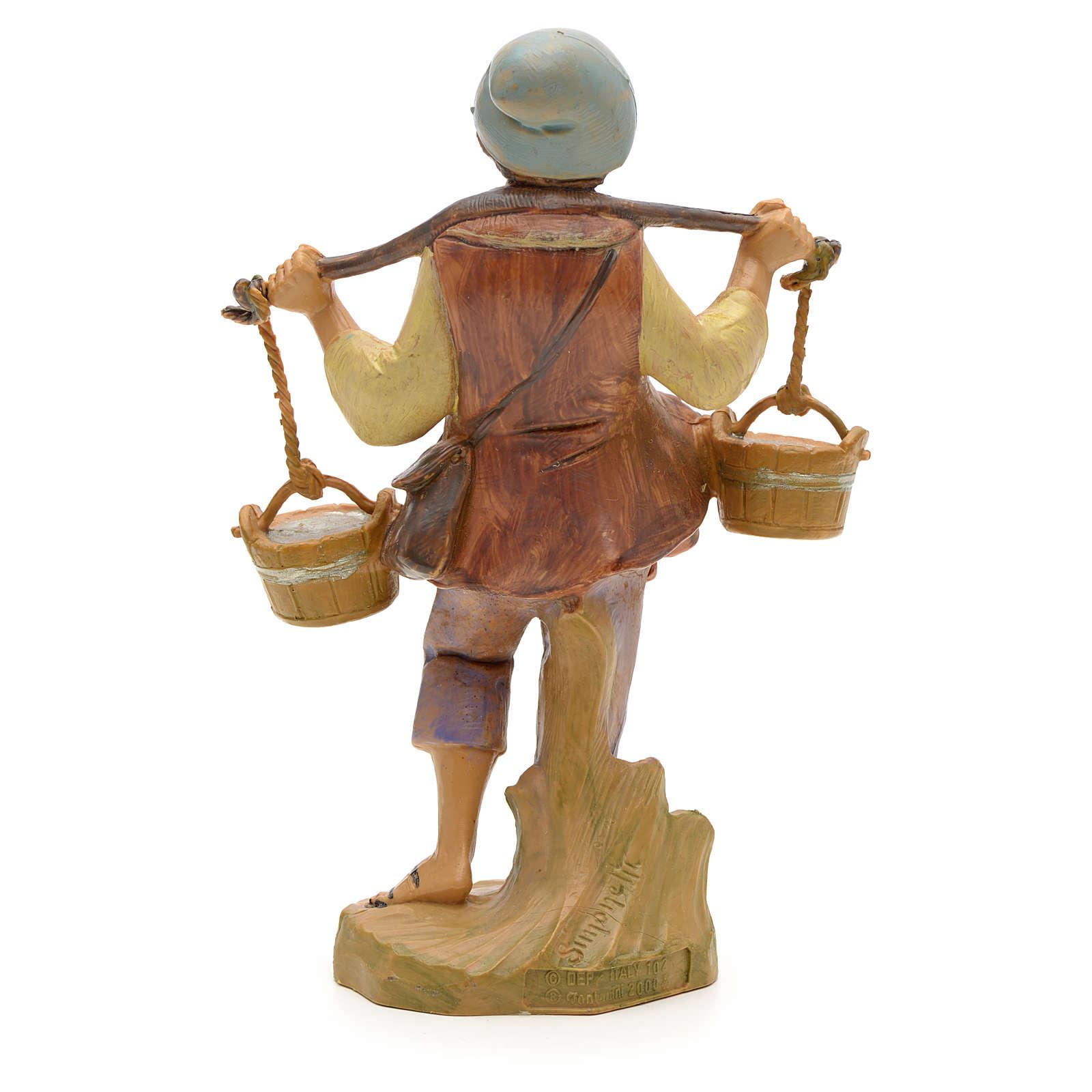 Pastor con cubos de agua 12 cm Fontanini 3