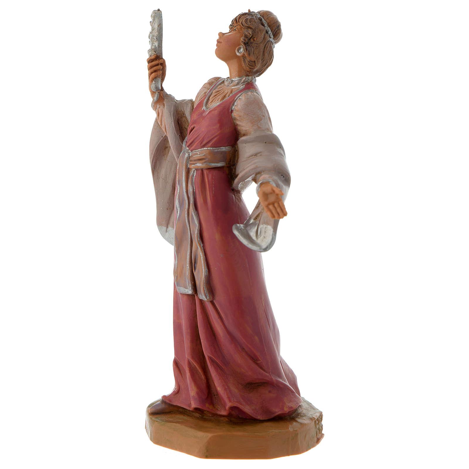 Femme aux bijoux crèche Fontanini 12 cm 3