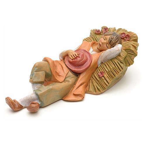 Berger endormi crèche Fontanini 12 cm 1
