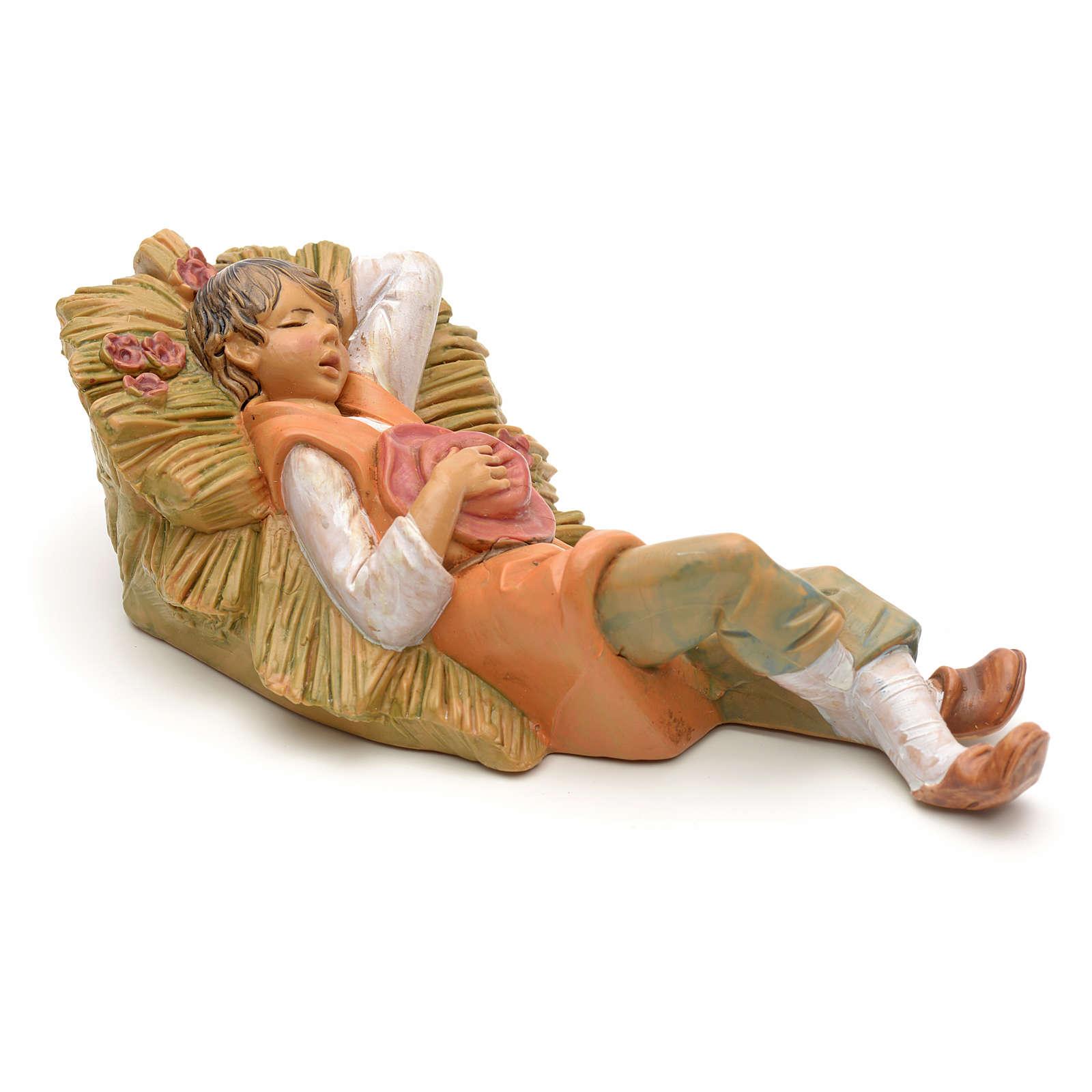Pastorello addormentato 12 cm Fontanini 3