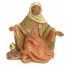 Figuras del Belén: Rey mago moreno 12 cm Fontanini
