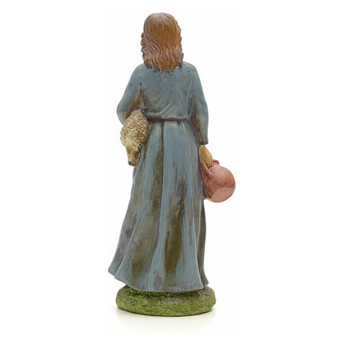 Nativity figurine, resin shepherdess with goat and amphora 20cm 3