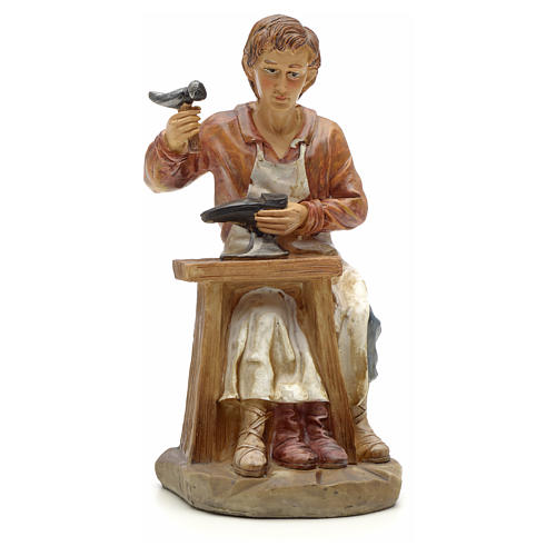 Shoemaker figurine in resin for nativities of 20cm 1