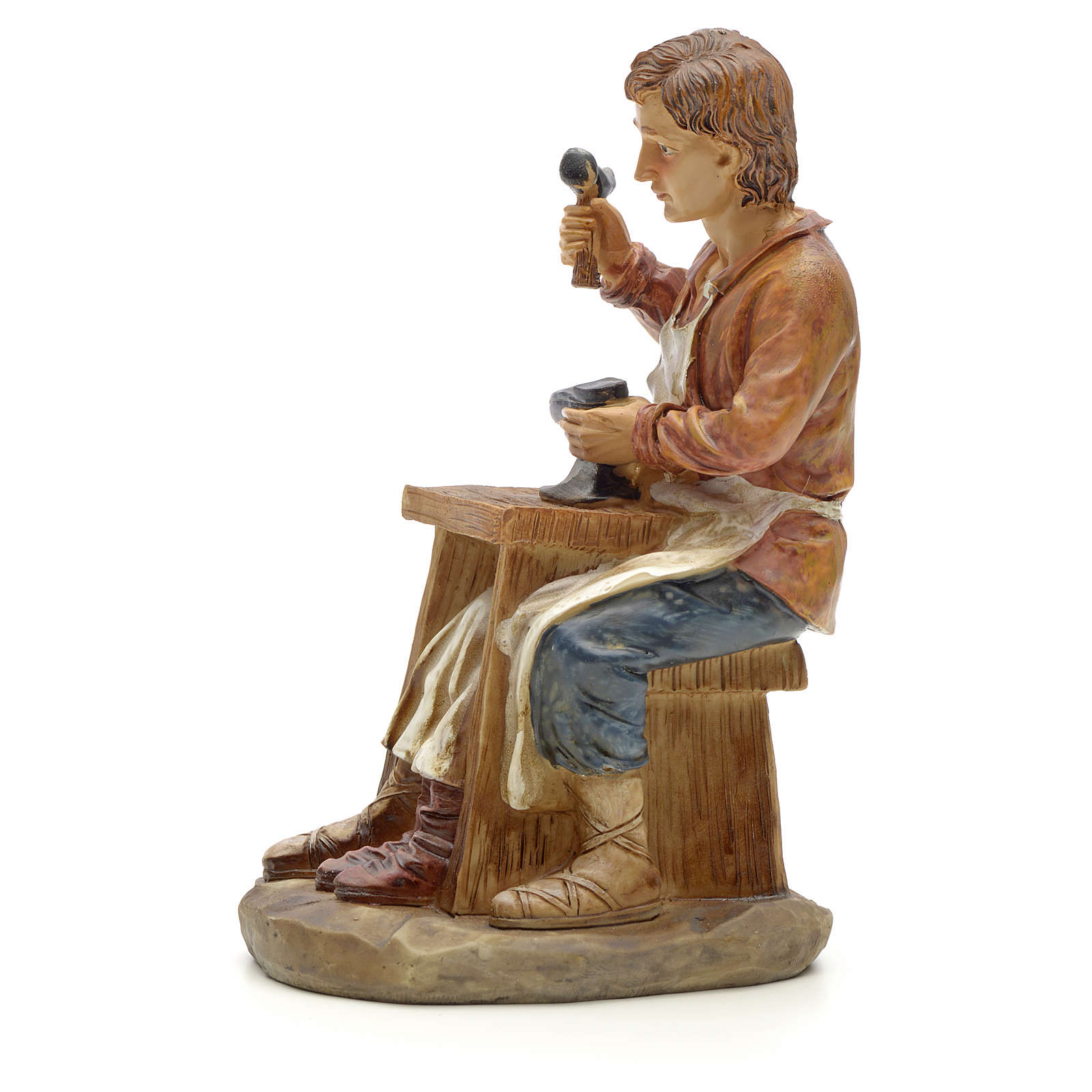 Shoemaker figurine in resin for nativities of 20cm 3