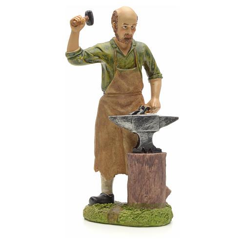 Nativity figurine, resin smith with anvil 20cm 1