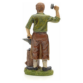 Nativity figurine, resin smith with anvil 20cm s3